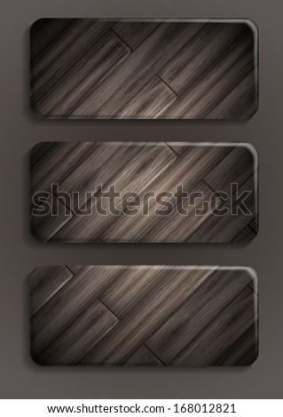Wooden texture banner.  - stock photo