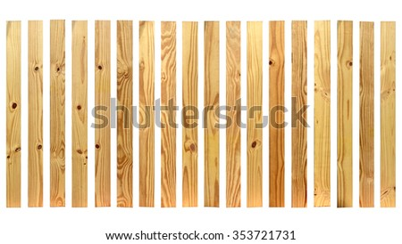 Wooden texture isolated on white background. This has clipping path. - stock photo