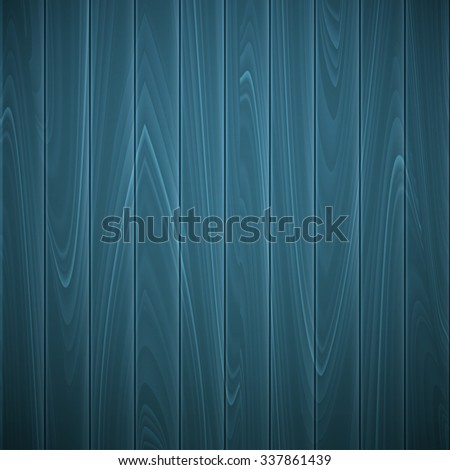 Wooden texture of blue color,  illustration - stock photo
