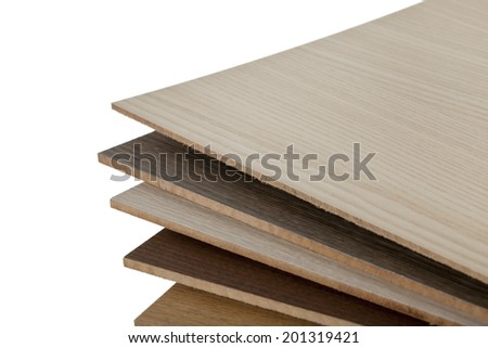 Wooden texture of different types of wood - stock photo