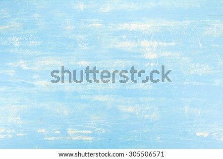 Wooden texture of table in blue color - stock photo