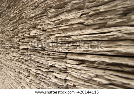Wooden texture perspective view, wood pattern - stock photo