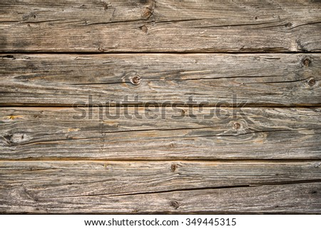 Wooden texture, plank weathered wood background - stock photo