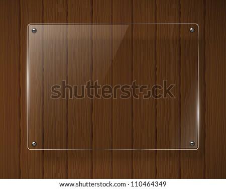 Wooden texture with glass framework. Jpeg version. - stock photo