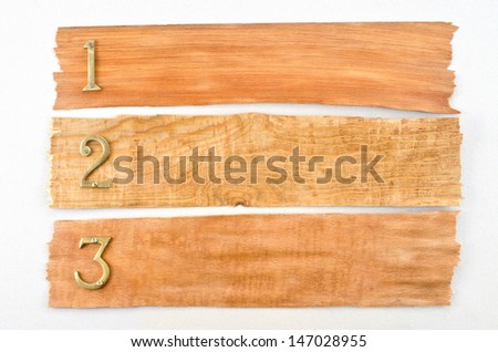 Wooden texture with numbers and place for your text  - stock photo