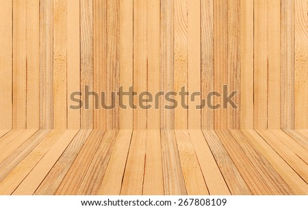 Wooden texture with perspective background design. - stock photo