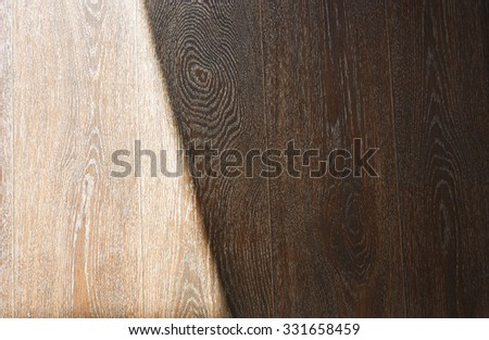 Wooden texture with sunlight and shade - stock photo