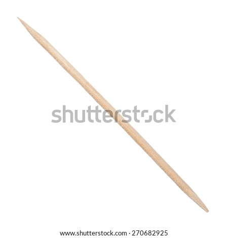 wooden toothpick isolated on white  background - stock photo