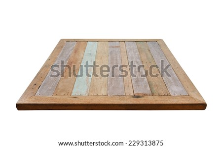 Wooden top of table. Vintage wooden texture background. - stock photo