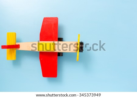 wooden toy, christmas gift - stock photo