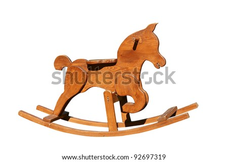 Wooden toy horse - stock photo