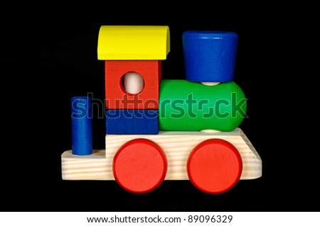 Wooden Toy Locomotive - stock photo