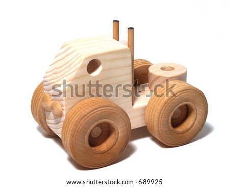Wooden Toy Semi