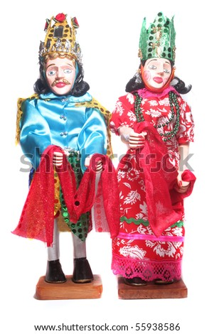 wooden traditional holiday celebration doll