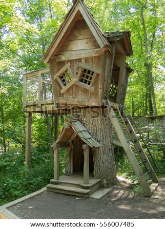 Kids Tree House kids treehouse stock images, royalty-free images & vectors