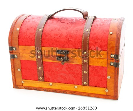 wooden trunk isolated - stock photo