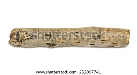 wooden twigs on white