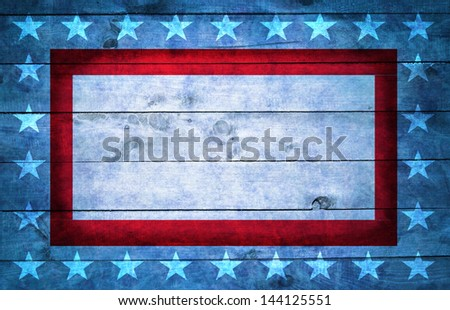 Wooden USA style background - stock photo