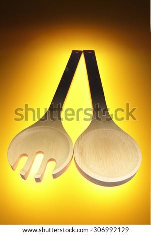 Wooden Utensils - stock photo