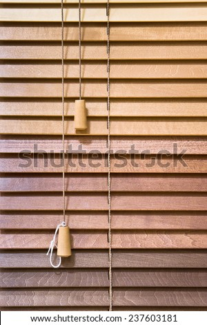 Wooden venetian blind as a background - stock photo
