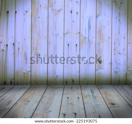 wooden wall and floor interior