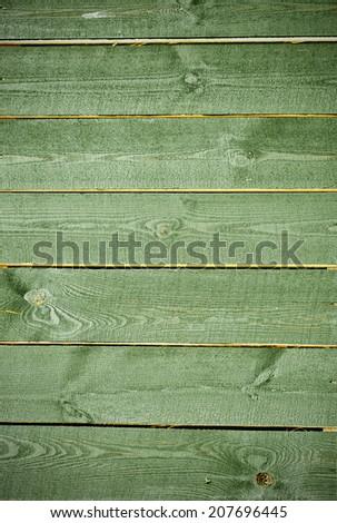 Wooden wall docks texture in green tones - stock photo