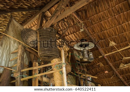 wooden wall in old Fishing tool and old farm tools and broom & Corn Broom Stock Images Royalty-Free Images u0026 Vectors | Shutterstock memphite.com