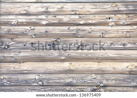Wooden wall of a loghouse for background - stock photo