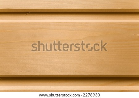 Wooden wall of a sauna