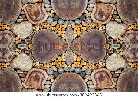Wooden wall texture for background. - stock photo