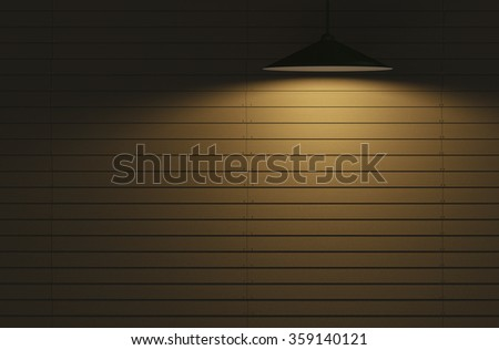 Wooden walls and light 3d rendering. - stock photo