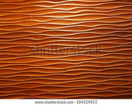 Wooden wavy patterns - stock photo