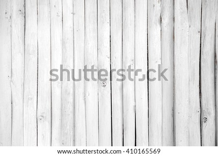 Wooden white planks wall background - stock photo