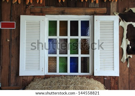 Wooden white window