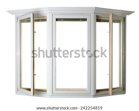 Wooden window isolated