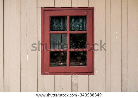 Wooden with window old house and grunge background