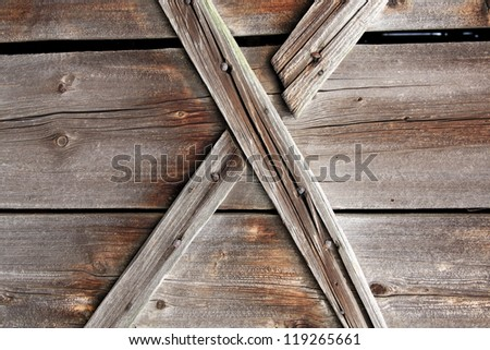 Wooden X texture / old barn wood