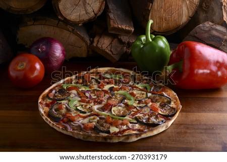 Woodfire Pizza - stock photo