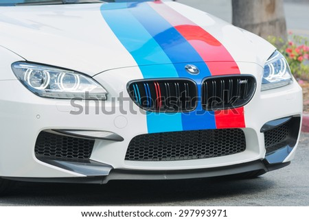 Woodland Hills, CA, USA - July 19, 2015:  BMW M6 car on display at the Supercar Sunday car event.