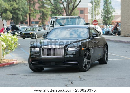Woodland Hills, CA, USA - July 19, 2015:  Rolls Royce Phantom car on display at the Supercar Sunday car event. - stock photo