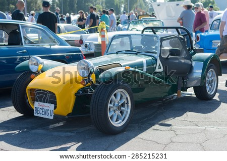 Woodland Hills, CA, USA - June 7, 2015: Lotus 7 car on display at the Supercar Sunday car event.