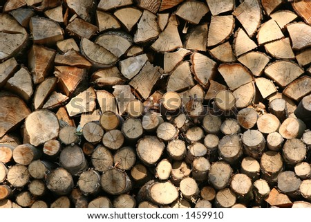 woodpile closeup