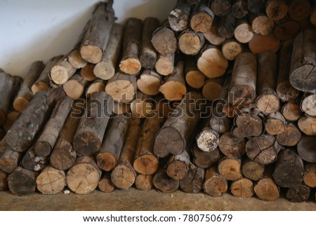 woodpile use in stove