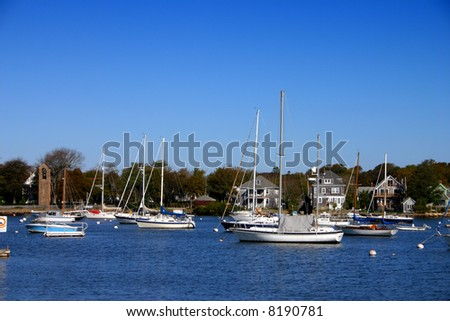 Woods Hole is a census-designated place and village within the town of Falmouth in Barnstable County, Massachusetts - stock photo