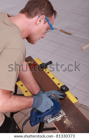 woodworker working - stock photo