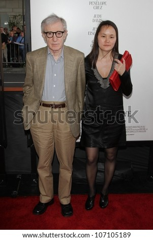 "Woody Allen and Soon-Yi Previn at the ""To Rome With Love"" Premiere as part of the 2012 Los Angeles Film Festival, Regal Cinemas, Los Angeles, CA  06-14-12 - stock photo"