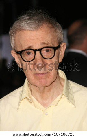 "Woody Allen  at the Los Angeles Premiere of ""Vicky Cristina Barcelona"". Mann Village Theatre, Westwood, CA. 08-04-08"