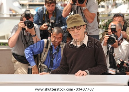 "Woody Allen at the photocall for his movie ""You Will Meet A Tall Dark Stranger"" out of competition at the 63rd Festival de Cannes. May 15, 2010  Cannes, France Picture: Paul Smith / Featureflash - stock photo"