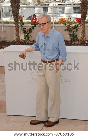 "Woody Allen at the photocall for his new movie ""Midnight in Paris"" at the 64th Festival de Cannes. May 11, 2011  Cannes, France Picture: Paul Smith / Featureflash - stock photo"