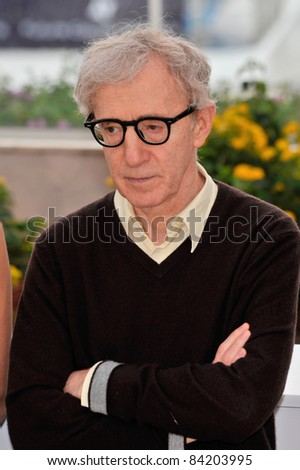 "Woody Allen at the photocall for his new movie ""Vicky Cristina Barcelona"" at the 61st Annual International Film Festival de Cannes. May 17, 2008  Cannes, France. Picture: Paul Smith / Featureflash - stock photo"